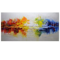 2018 Hand Painted Modern Abstract Thick Texture Canvas Oil ...