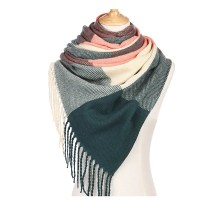 2018 Korean Cashmere Plaid Scarf Autumn And Winter Scarves ...