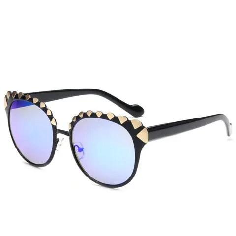 Stylish Women's Diamond Shape Alloy Embellished Sunglasses
