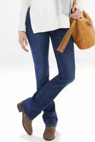 Stylish Mid-Waisted Boot Cut Deep Blue Women's Jeans