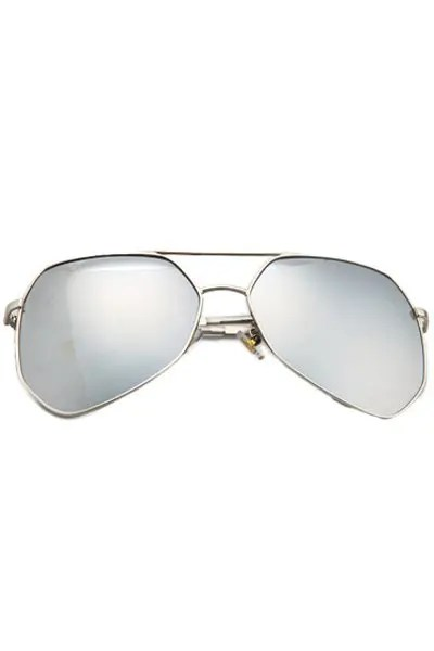 Chic Silver Alloy Frame Sunglasses For Women