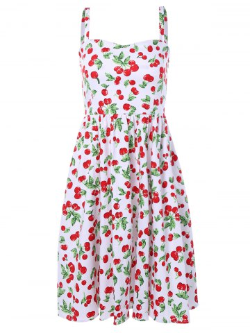 Cherry Print Flare Dress