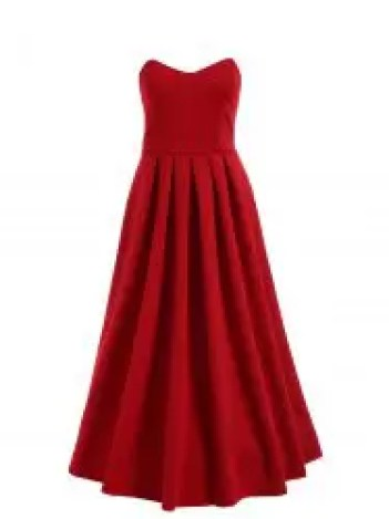 Strapless Midi High Low Formal Dress