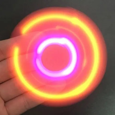 Chic LED Lights Fidget Spinner with USB Charging Bluetooth Speaker PINK