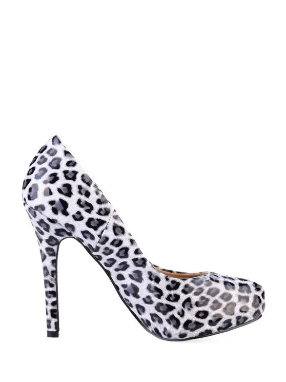 [42% OFF] 2019 Leopard Print Stiletto Heel Pumps In WHITE