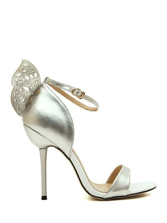 engraving butterfly stiletto heel