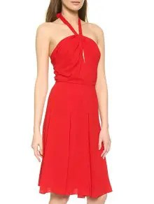 halter neck hollow out