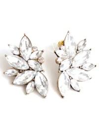2018 Rhinestone Stud Earrings In WHITE | ZAFUL