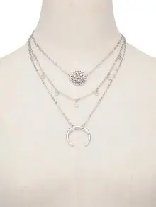Multilayered Blossom Beads Circle Alloy Necklace