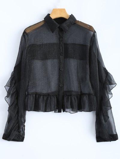 Ruffled Sheer Shirt