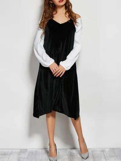 Velvet Loose Midi Dress