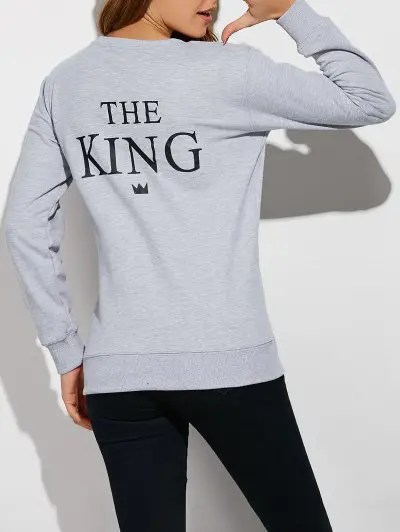 Loose Letter Couple Sweatshirt