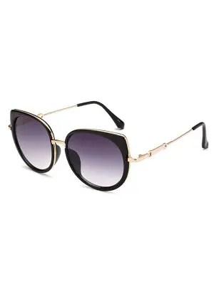 Full Rims Cat Eye Sunglasses - Deep Purple