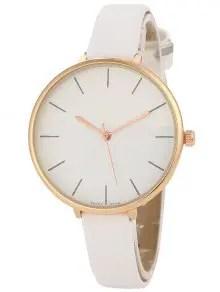 Zaful Color Block Quartz Watch - White $8.25