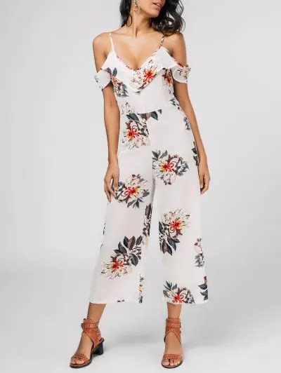Floral Print Cami Jumpsuit