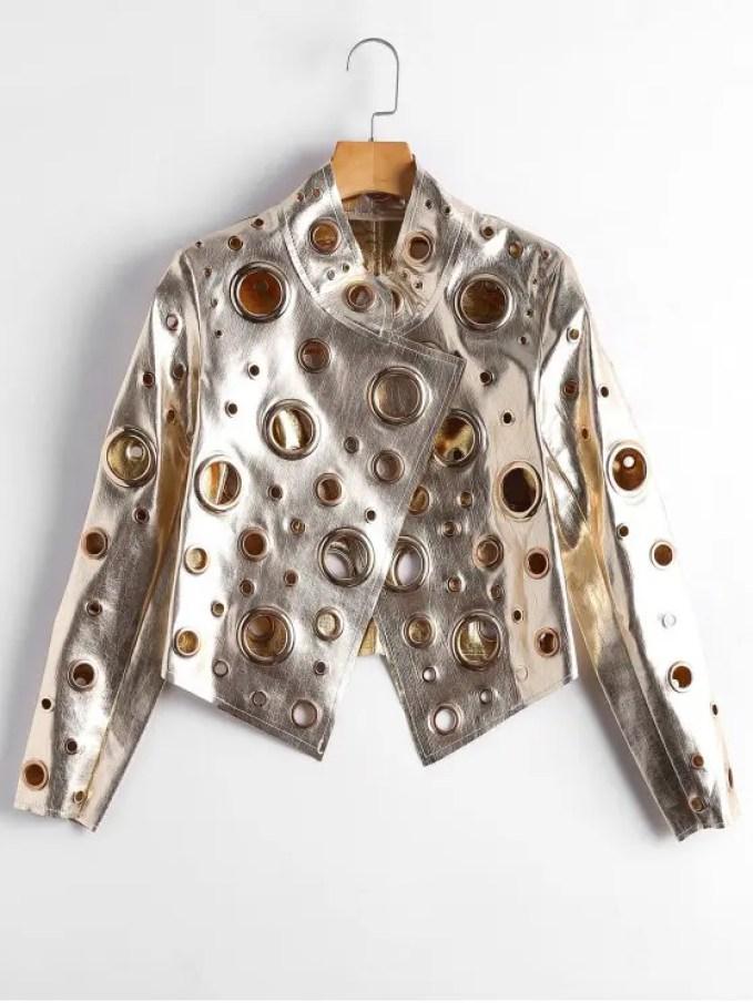 Image result for zaful golden jacket