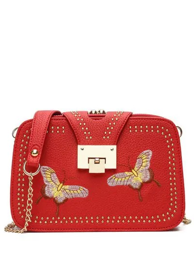Chain Studded Crossbody Bag