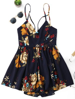 Firstgrabber Floral Criss Cross Romper