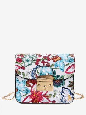 Floral Chain Mini Crossbody Bag