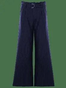 Striped High Waist Formal Wide Leg Pants