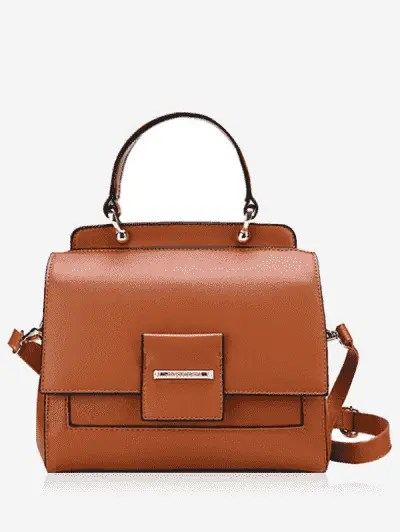 Zaful Faux Leather Multi Function Handbag
