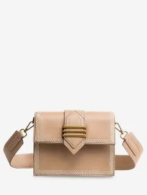 Compras casuais minimalistas Crossbody Bag - Khaki