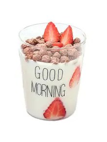 Creative 400ML Good Morning Heat Resistant Glass Cup