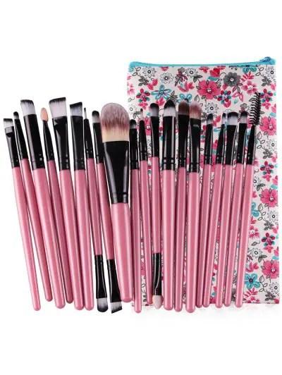 Professional 20Pcs Ultra Soft Foundation Eyebrow Eyeshadow Concealer Brush Set with Bag
