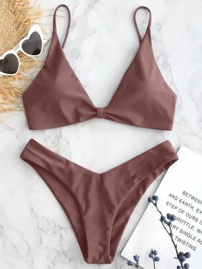 Knotted Cami Bikini Set