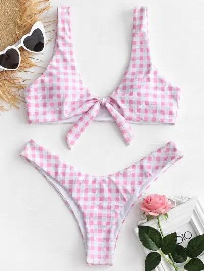Plaid Bikini Set