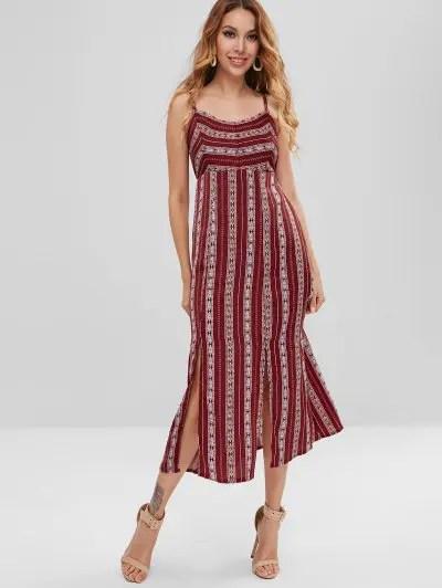 Sleeveless Slit Dress