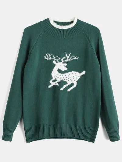 Deer Jacquard Sweater