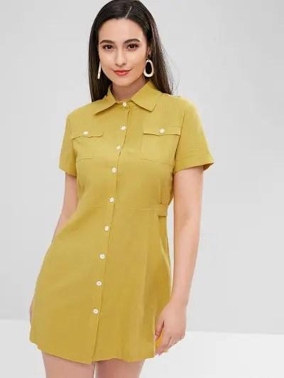 Pockets Shirt Dress