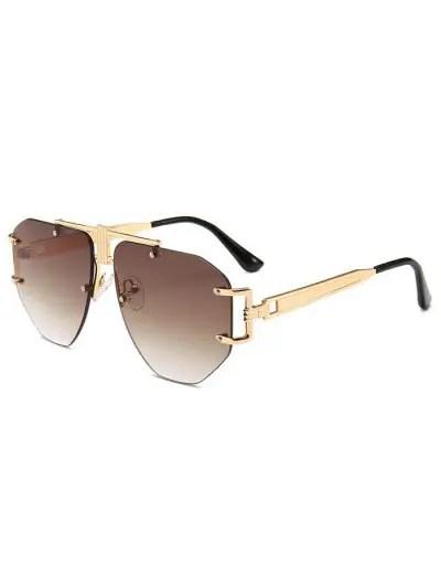 Punk Alloy Rimless Sunglasses