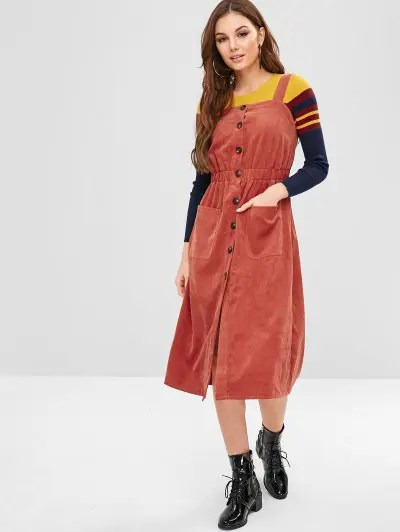 Button Up Casual Dress