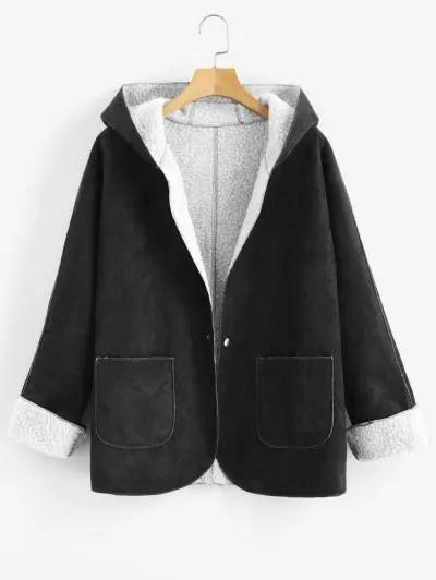 Hooded Sheepskin Coat