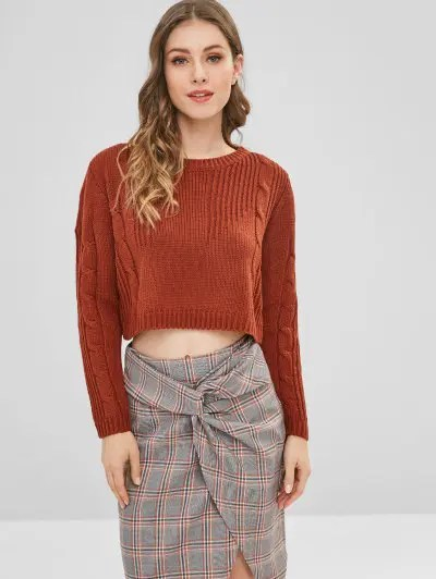 Cable Knit Jumper Sweater