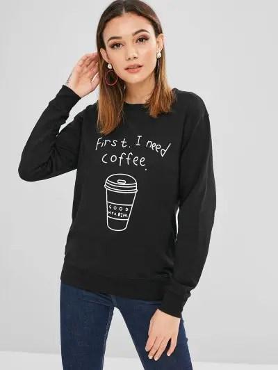 Graphic Coffee Sweatshirt