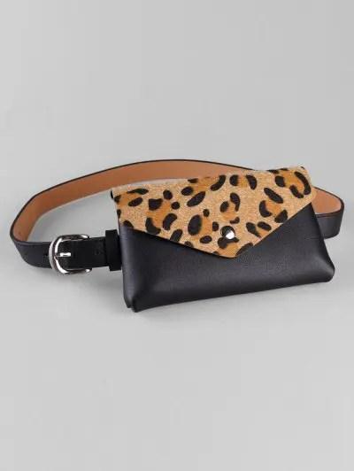 Leopard Funny Bag Embellished Waist Belt Bag