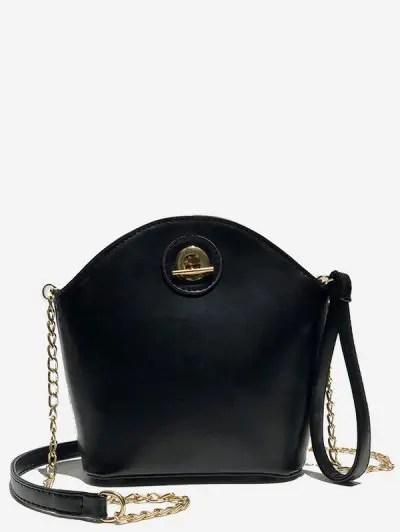 Shell Shape Zipper Design Crossbody Bag
