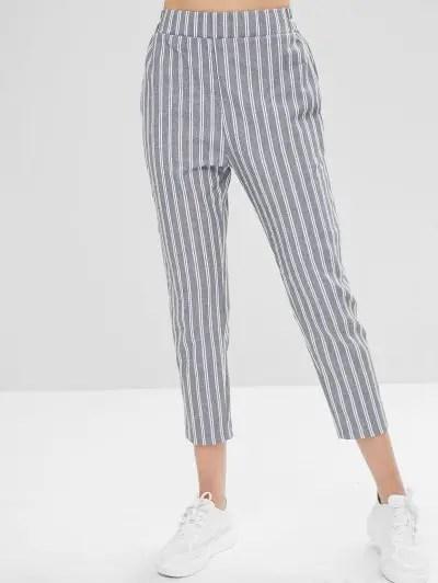 Straight Striped Pants
