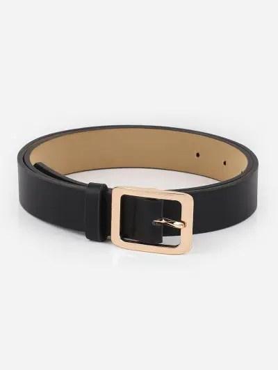 Alloy Square Buckle Faux Leather Waist Belt