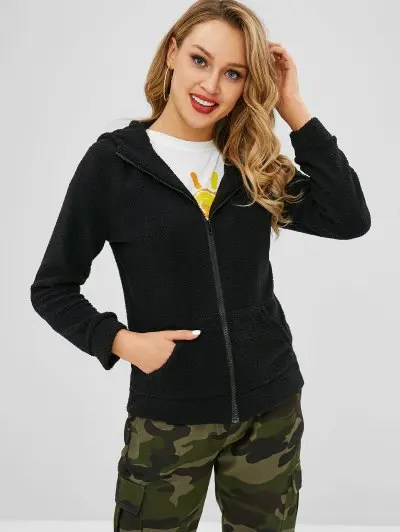 Zipper Hooded Jacket
