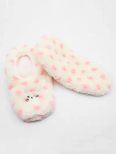 Fuzzy Polka Dot Floor Socks