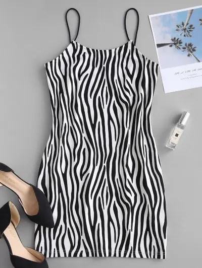 Zebra Print Cami Dress