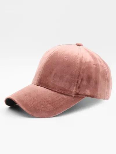 Solid Color Design Suede Baseball Hat