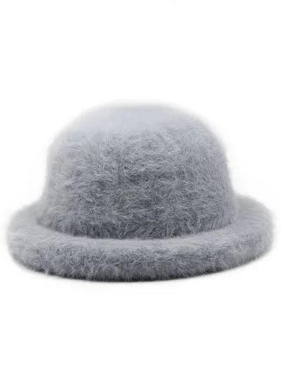 Winter Fuzzy Simple Style Bucket Hat