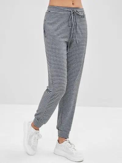 Striped Drawstring Pants
