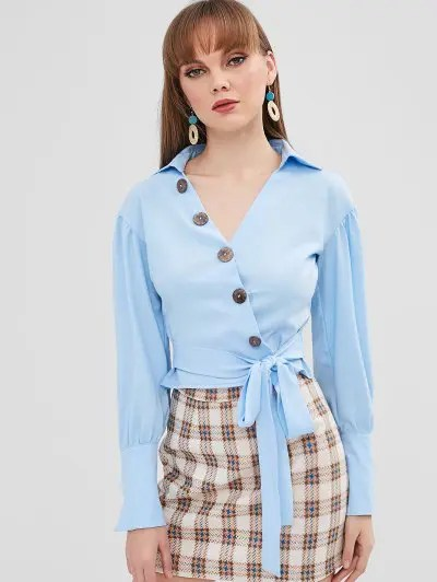 Button Up Knotted Top