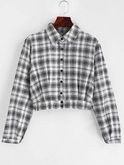 Plaid Cropped Shirt